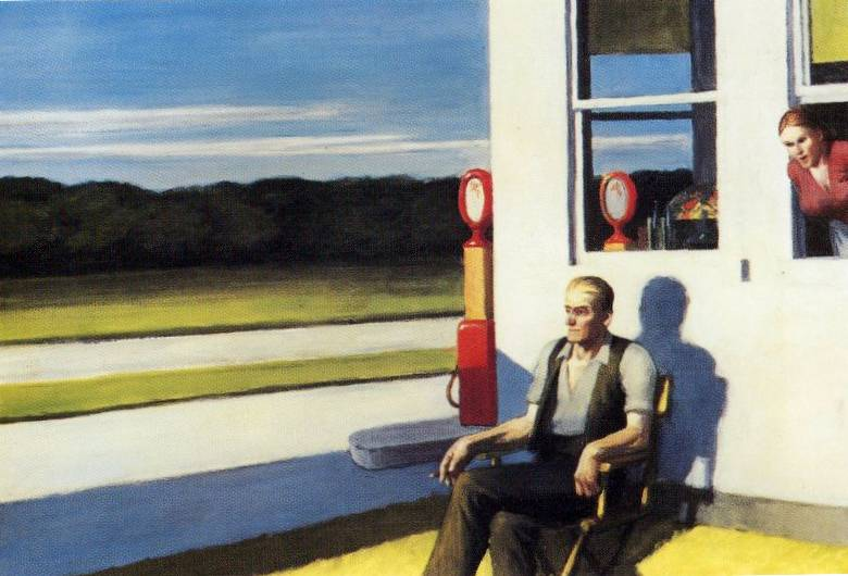 Four Lane Road - Edward Hopper