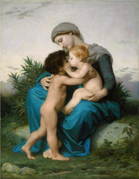 Fraternal Love - William Adolphe Bouguereau