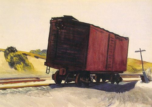 Freight Car at Truro - Edward Hopper