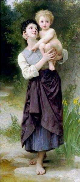 Frere Et Soeur - William Adolphe Bouguereau