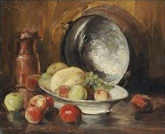 Fruit and Copper Pot - William Merritt Chase