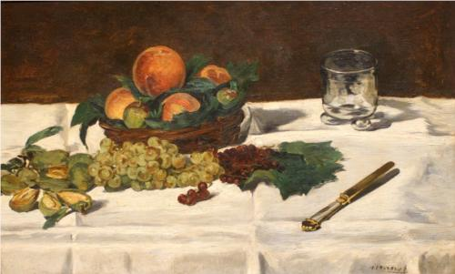 Fruit on a Table - Edouard Manet