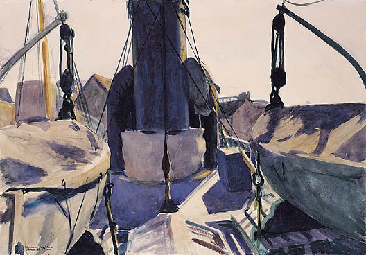 Funnel of Trawler - Edward Hopper