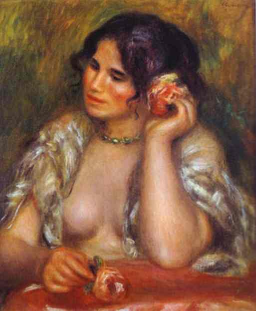 Gabrielle with a Rose - Pierre Auguste Renoir