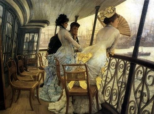 James Tissot - Gallery of H.M.S. 'Calcutta' (Portsmouth)