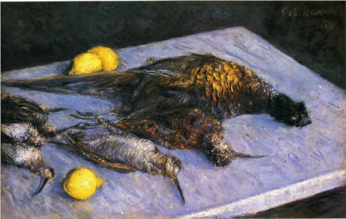 Game Birds and Lemons - Gustave Caillebotte