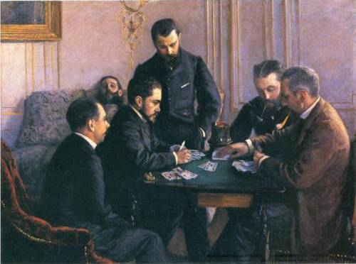 Game of Bezique - Gustave Caillebotte