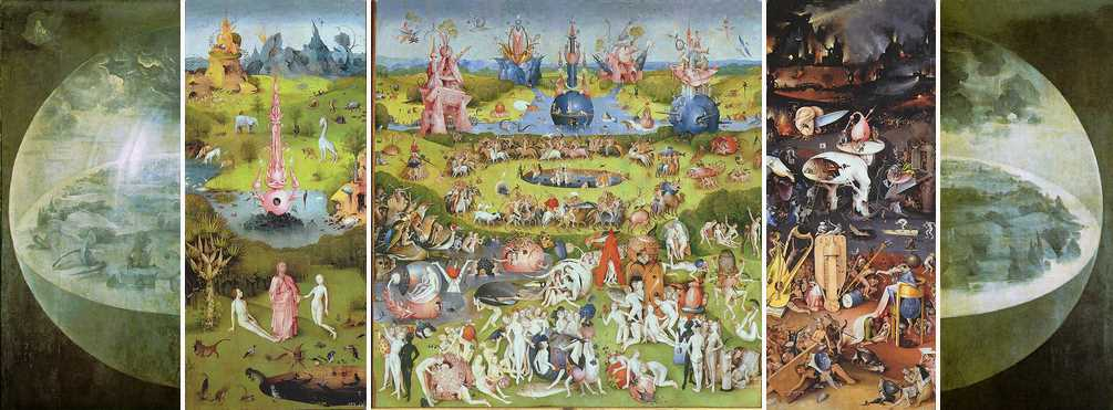 Garden Of Earthly Delights Complete Triptych Hieronymus Bosch Oil Painting Reproductions And Prints
