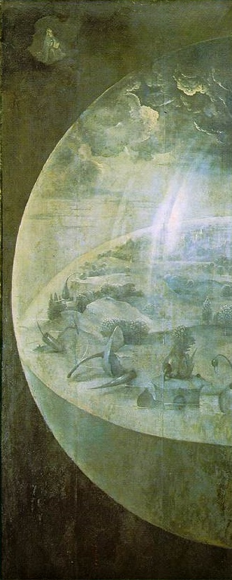 Garden of Earthly Delights: left exterior panel - Hieronymus Bosch