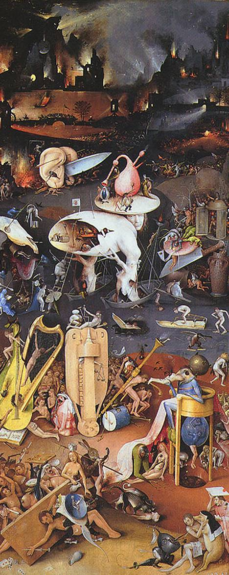 Garden of Earthly Delights Right panel (Hell) - Hieronymus Bosch