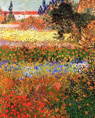 Garden of Flowers - Vincent van Gogh