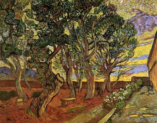 Garden of the Hospital - Vincent van Gogh
