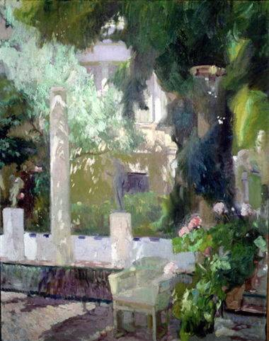 Gardens at the Sorolla House - Joaquin Sorolla