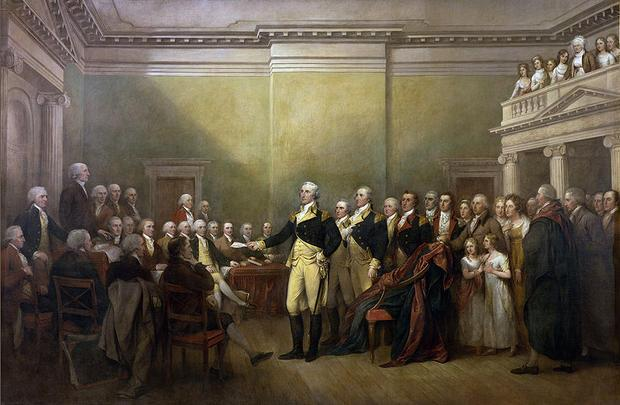 George Washington Resigning his Commission - John Trumbull