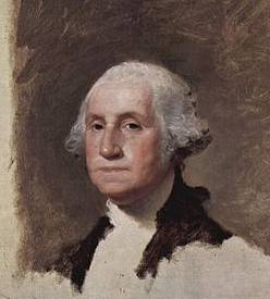 George Washington (The Athenaeum) detail - Gilbert Stuart