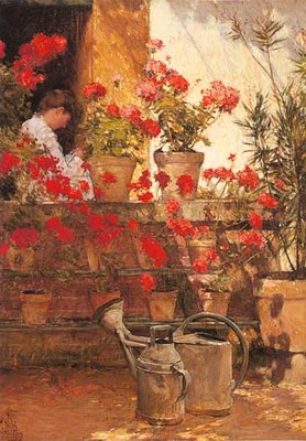 Geraniums - Childe Hassam