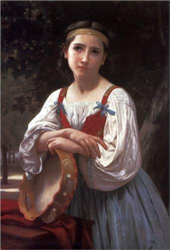 Gipsy with the Tambourine - William Adolphe Bouguereau