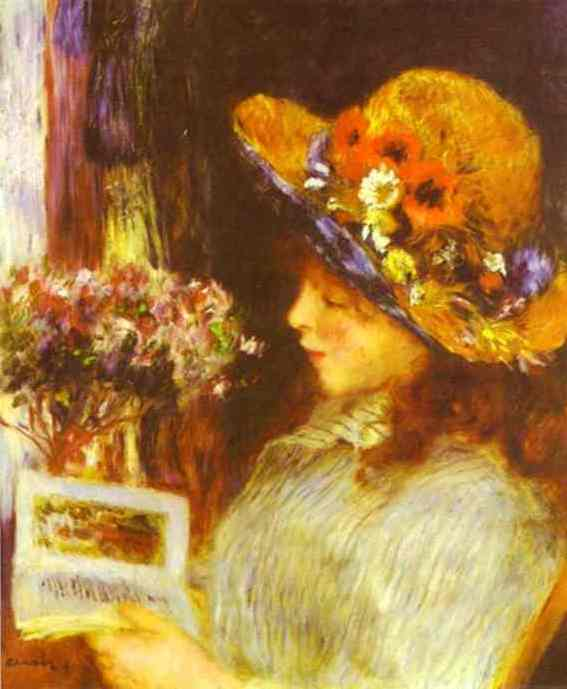 Girl Reading - Pierre Auguste Renoir
