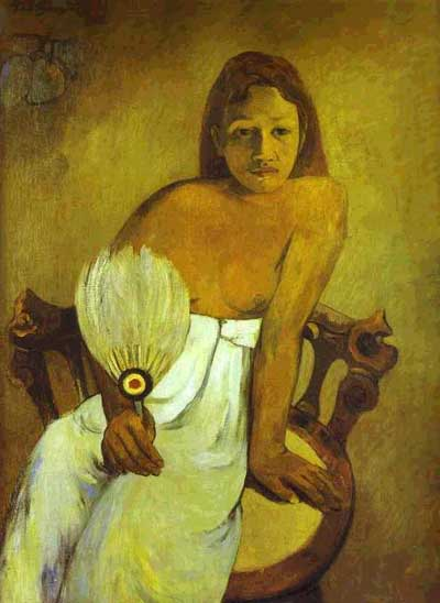 Girl with a Fan - Paul Gauguin