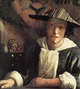 Girl with a Flute - Jan Vermeer van Delft