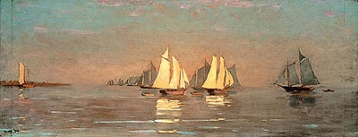 Gloucester, Mackerel Fleet at Dawn - Winslow Homer