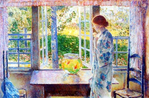 Goldfish Window - Childe Hassam
