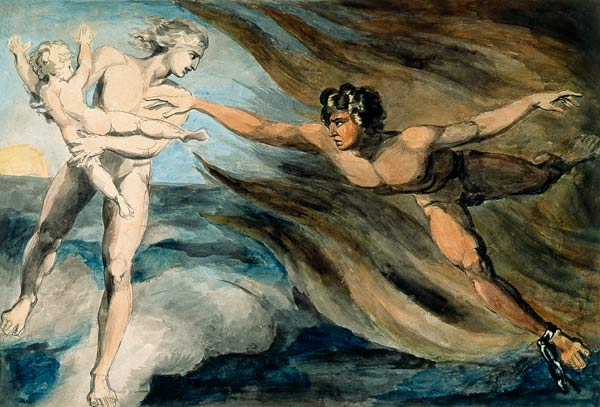 Good and Evil Angels Struggling for the Possession of a Child - William Blake