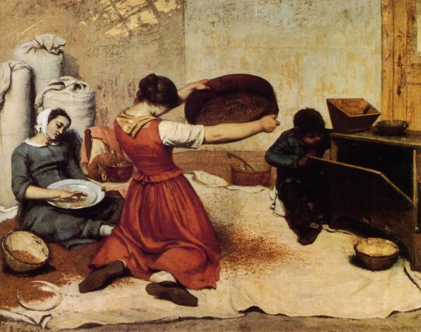 The Grain Sifters - Gustave Courbet
