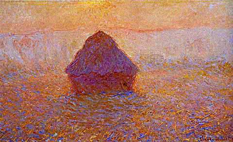 Grainstack (Sun in the Mist) - Claude Monet
