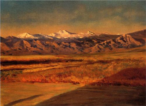 Grand Tetons, Wyoming - Albert Bierstadt