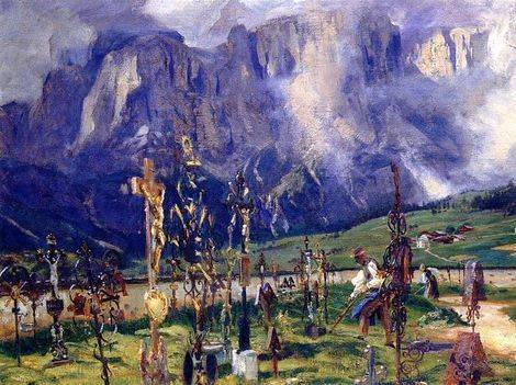 Graveyard in the Tyrol - John Singer Sargent