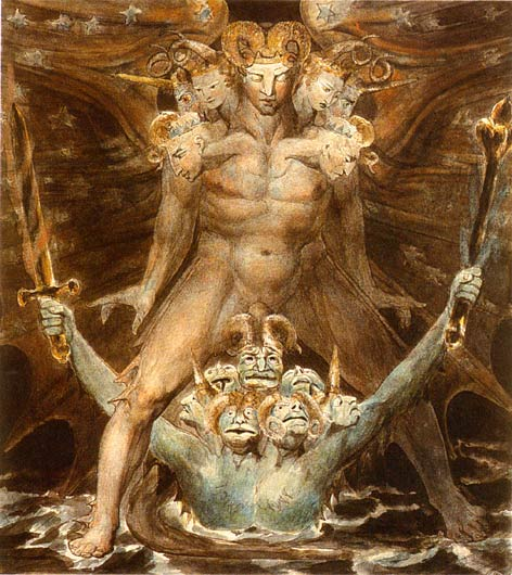 Great Red Dragon and the Beast from the Sea - William Blake