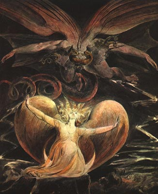 Great Red Dragon & Woman Clothed with the Sun - William Blake