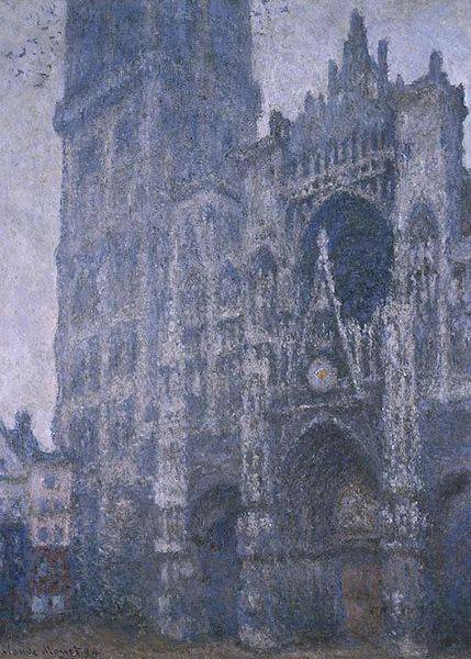 Grey Weather Rouen Cathedral - Claude Monet