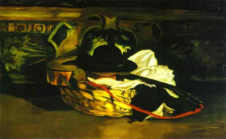 Guitar and Hat - Edouard Manet
