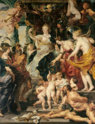 Happiness of the Regency - Peter Paul Rubens