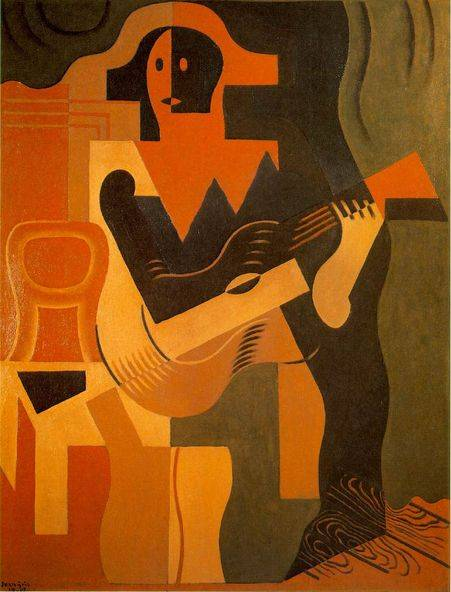 Harlequin with Guitar - Juan Gris