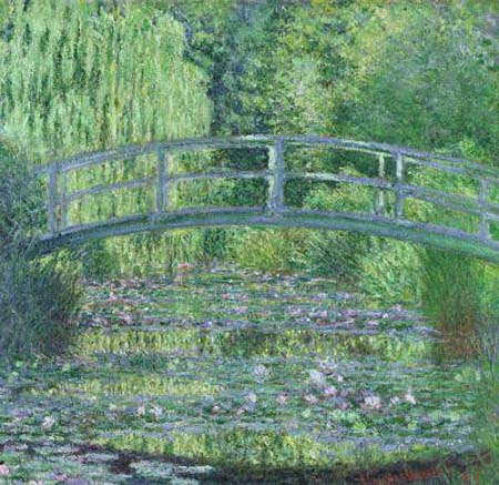 Harmony in Green (Japanese Bridge) - Claude Monet