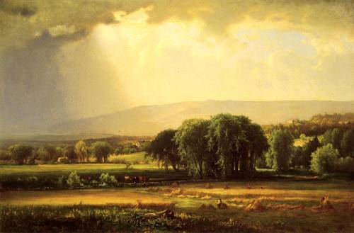 Harvest Scene in the Delaware Valley - George Inness