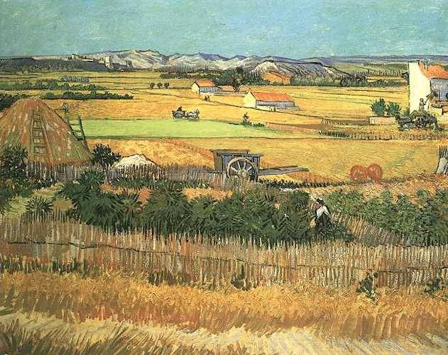 Harvest at La Crau - Vincent van Gogh