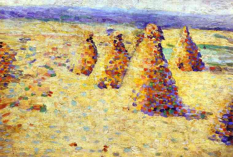 Hay Stacks in Normandy - Charles Angrand