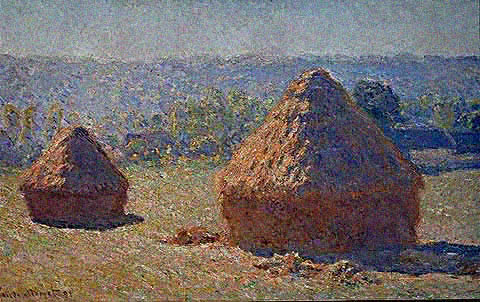 Haystacks End of Summer - Claude Monet