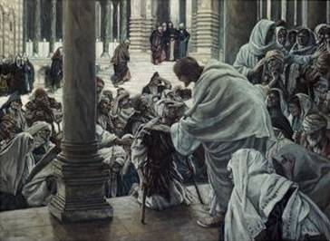 Healing the Lame in the Temple - James Tissot