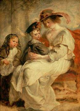 Helene Fourment with Her Children - Peter Paul Rubens