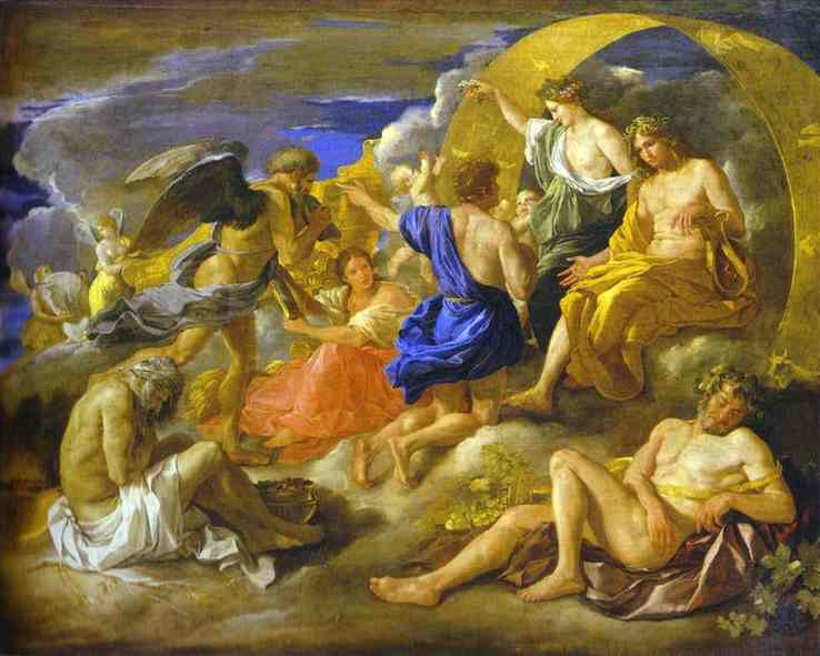 Helios and Phaeton with Saturn and the Four Seasons - Nicolas Poussin