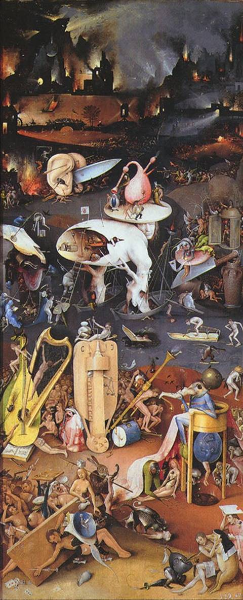 Hell (right panel) - Hieronymus Bosch