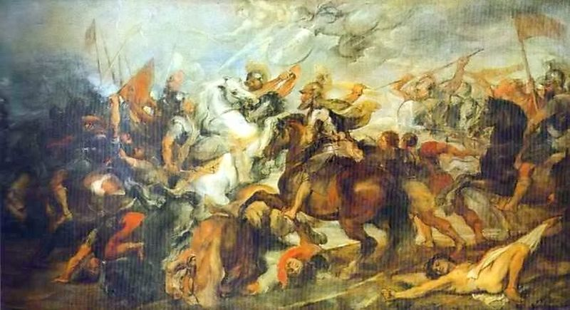 Henry IV at the Battle of Ivry - Peter Paul Rubens