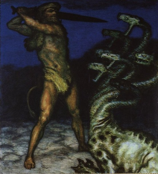 Hercules and the Hydra - Franz Von Stuck