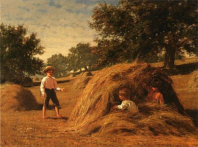Hiding in the Haycocks - William Bliss Baker