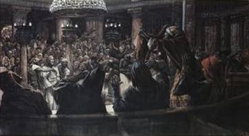 High Priest Rends His Clothes - James Tissot